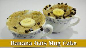 Banana Oats Mug Cake YouTube Thumbnail