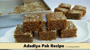 Adadiya Pak Recipe Image