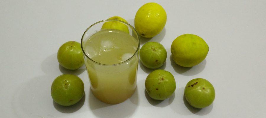 Amla Nimbu Sharbat - Gooseberry Lemon Syrup