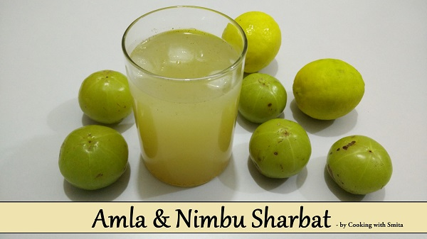 Amla Nimbu Sharbat | Gooseberry Lemon Syrup