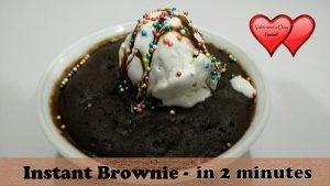 Instant Brownie Recipe