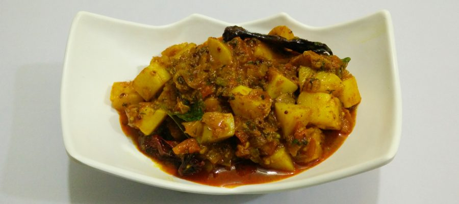 Spicy Potato Curry / Aloo Sabzi (Dhaba Style) by Cooking ...