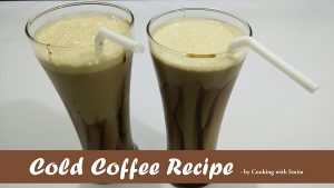 Cold Coffee with Chocolate Syrup