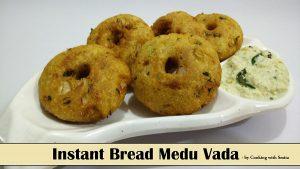 Instant Bread Medu Vada