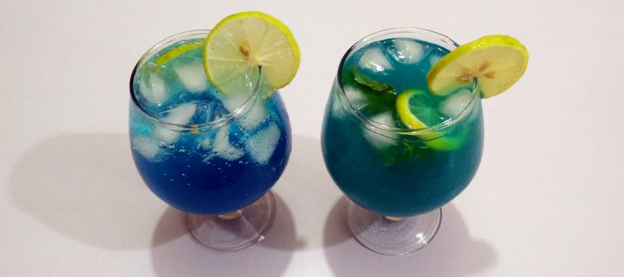 Citrus Blue Mocktails