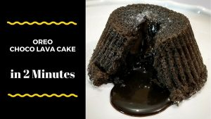 Instant Oreo Choco Lava Cake in 2 minutes by cooking with smita