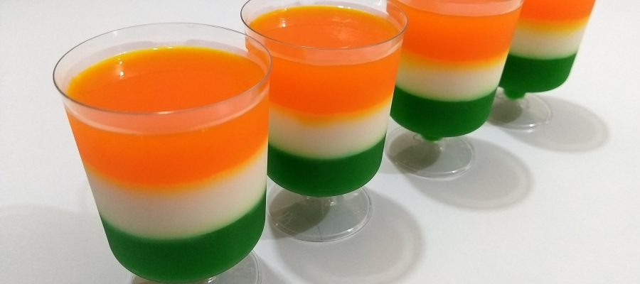 Tricolour Jelly Dessert