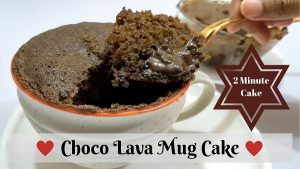 Instant Choco Lava Mug Cake recipe in 2 minutes