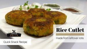 Leftover Rice Cutlet by Cooking with Smita