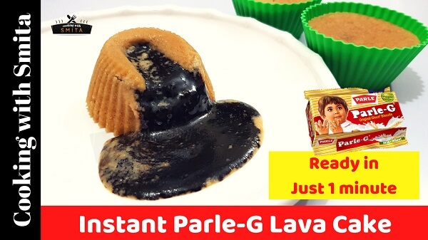 Instant Parle G Lava Cake