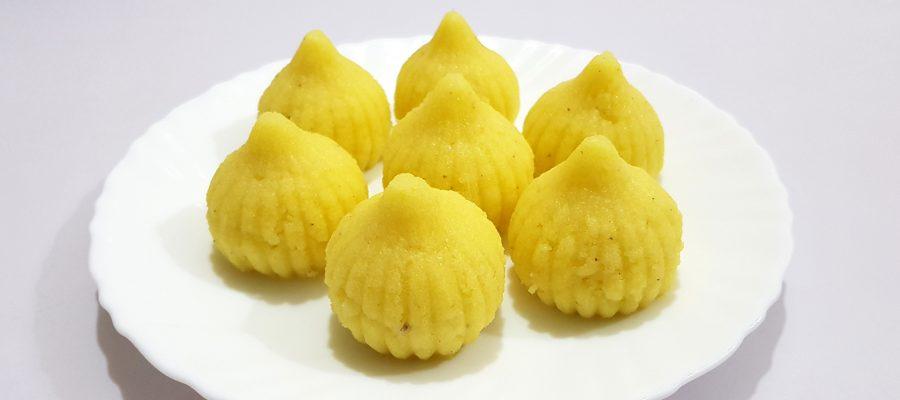 Rava - Suji Ke Modak - Semolina Modak by Cooking with Smita
